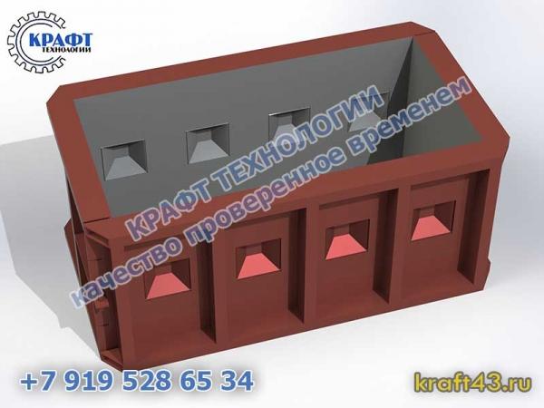 Металлоформы бетонных блоков «Лего»