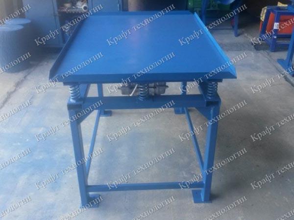 Вибростол формовочный 130х90 для производства брусчатки