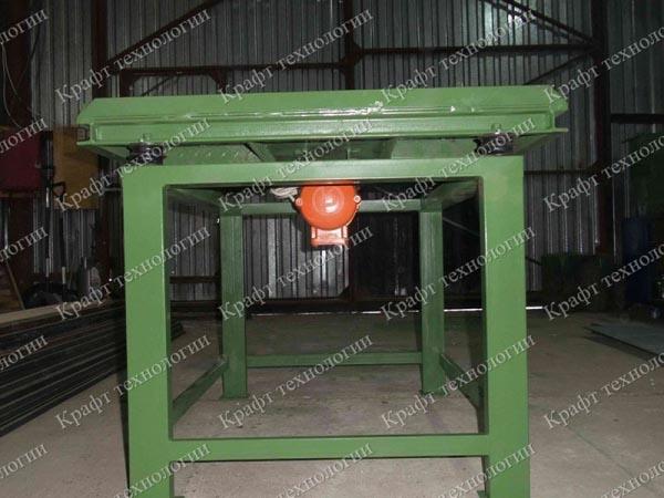Вибростол формовочный ВСУ для производства брусчатки