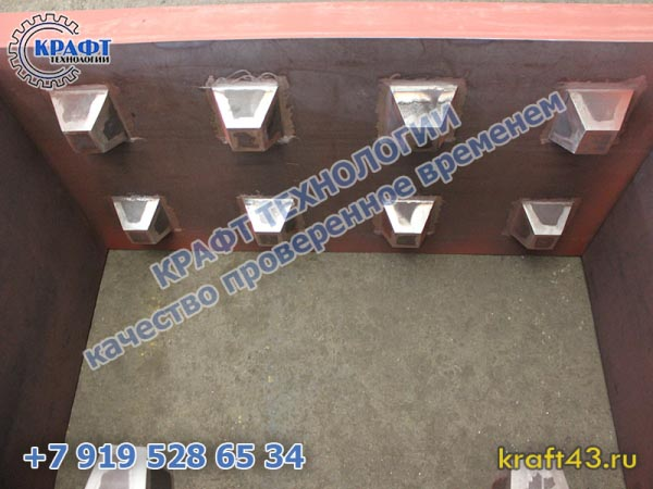 Металлоформа бетонный блок Лего 800х400х600