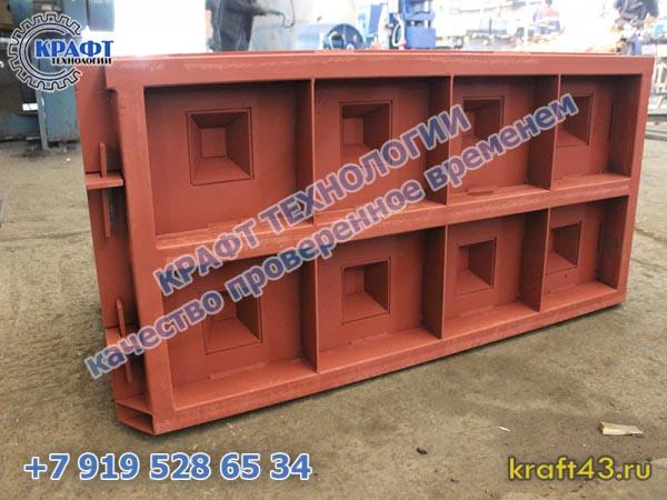 Металлоформа бетонный блок Лего 1000х500х600