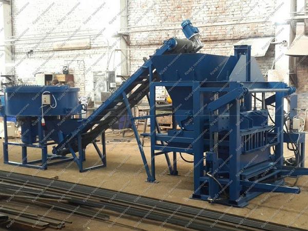 Мини завод строительных блоков, гидравлический вибропресс