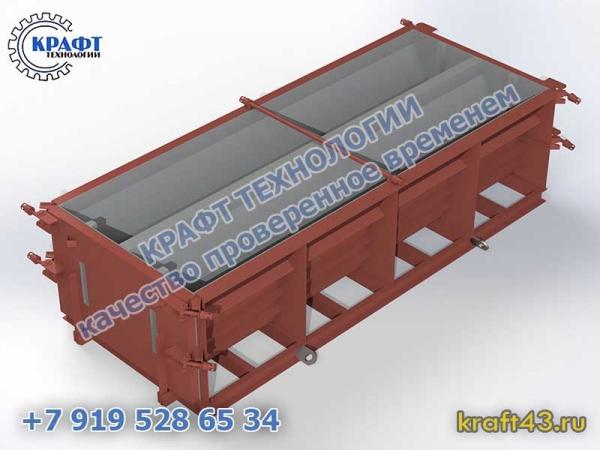 Металлоформа блок парапета (2 изделия)
