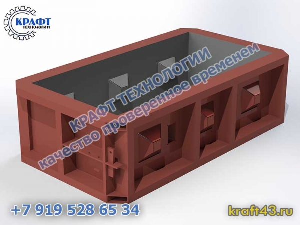 Металлоформа бетонный блок Лего 1200х300х600