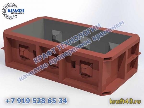 Металлоформа бетонный блок Лего 1200х400х600