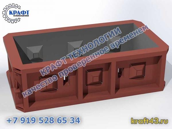Металлоформа бетонный блок Лего 1200х600х600