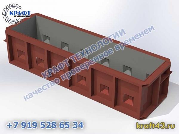 Металлоформа бетонный блок Лего 2500х500х600