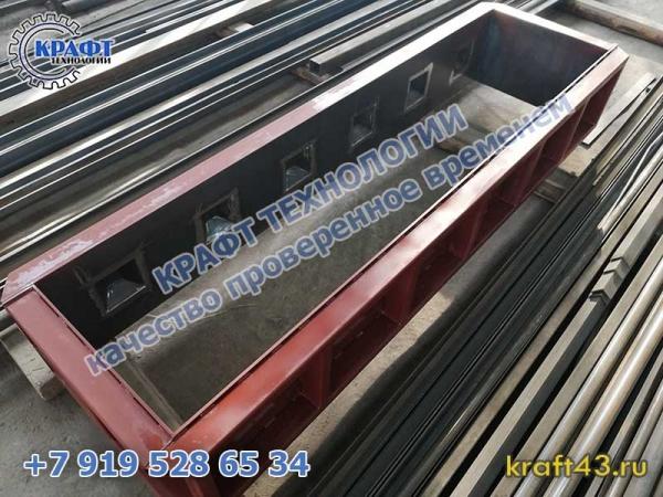 Металлоформа бетонный блок Лего 2400х400х600